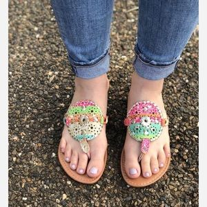 NWT Colorful Sandals